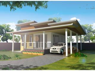 บ้าน 1 ชั้น 2 ห้องนอน 1 ห้องน้ำ โดย JG DESIGN [IDLine]pramot67