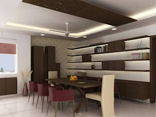 RESIDENTIAL PROJECT:  Dining room by ABHISHEK DANI DESIGN,