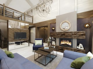 Rustic style living room by decoroom Rustic