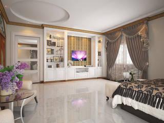 งานออกแบบห้องนอน และห้องทำงาน บ้านคุณ เกรียงไกร / ระยอง: คลาสสิก  โดย SDD Design, คลาสสิค