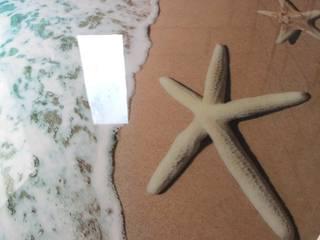 Wykonanie podłogi 3d w łazience: styl , w kategorii Łazienka zaprojektowany przez Resinfloor - Kamil Wodecki