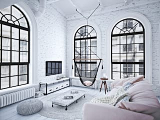 Living room by GM-interior, Industrial