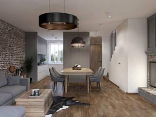 Dom w Rumi: styl , w kategorii Salon zaprojektowany przez Studio Projektowe Kreatura