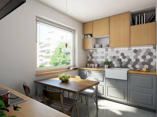 Mieszkanie studentki: styl , w kategorii Kuchnia zaprojektowany przez Studio Projektowe Kreatura