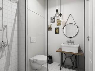 Mieszkanie studentki: styl , w kategorii Łazienka zaprojektowany przez Studio Projektowe Kreatura
