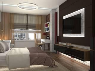 ЖК Скайфорт Спальня в стиле лофт от Дизайн студия Жанны Ращупкиной Лофт