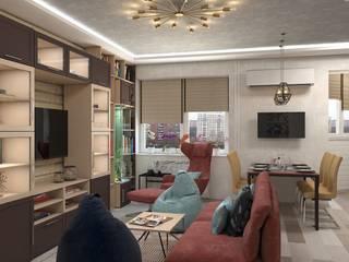 Дизайн квартиры в Химках Гостиная в стиле лофт от Дизайн студия Жанны Ращупкиной Лофт