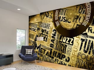 Text Graphic Wallpaper and Murals for Walls by wallsandmurals
