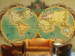 World map wallpaper designs for Office wall decor and custom wall murals for home decor. Walls and Murals:   by wallsandmurals
