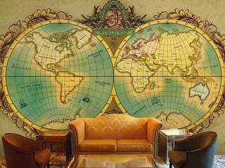 World Map Wallpaper and Murals for Walls by wallsandmurals