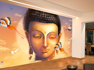 Asian Zen wallpaper theme and Buddha wallpaper for Spa and home walls decor with free shipping of wallpaper. Walls and Murals:   by wallsandmurals