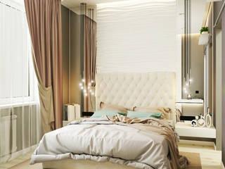 Из двухкомнатной квартиры сделали трехкомнатную и кабинет-гостевая! Спальня в эклектичном стиле от 'PRimeART' Эклектичный