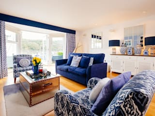 Blue Moorings, Dartmouth | Devon Eclectic style living room by Perfect Stays Eclectic
