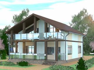 Дом с панорамным остеклением Дома в стиле минимализм от Садовникова Наталья Евгеньевна Минимализм