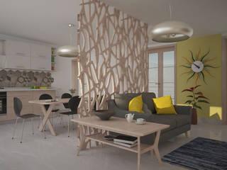 Progetto di Interior Design Soggiorno in stile scandinavo di Teresa Lamberti Architetto Scandinavo