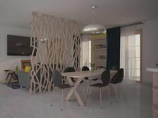 Progetto di Interior Design Sala da pranzo in stile scandinavo di Teresa Lamberti Architetto Scandinavo