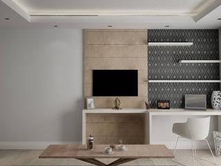 Ramazan Yücel İç mimarlık  – nrgn hnm proje: modern tarz Çalışma Odası