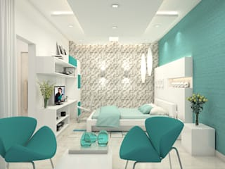 Nidhi Sharma's  Residence:   by Depanache Interior Architects