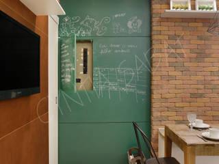 cozinha:   por Cyntia Sabat Arquitetura e Interiores