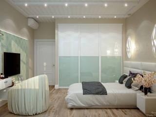 Mediterrane Schlafzimmer von Студия интерьерного дизайна happy.design Mediterran