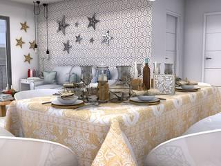 Christmas living room: Comedores de estilo  de Blophome
