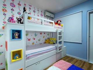 Milla Holtz & Bruno Sgrillo Arquitetura Eclectic style nursery/kids room Multicolored