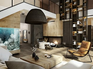 eclectic Living room by razoo-architekci