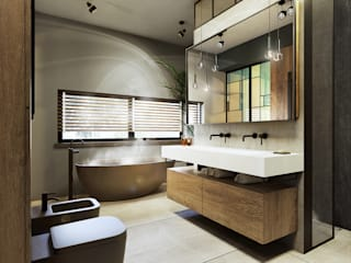 eclectic Bathroom by razoo-architekci