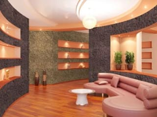 Gran variedad de texturas para revestir las paredes Espacios comerciales de estilo moderno de Panespol Moderno