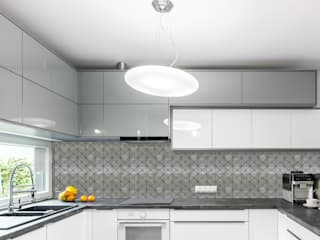 Brushed Nickel Tile, Prisma : modern Kitchen by Elalux Tile