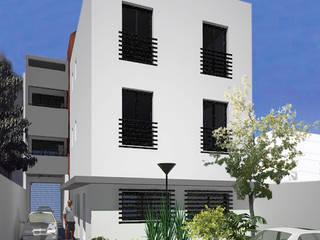 Edificio de Oficina y vivienda Estudios y oficinas modernos de Lineasur Arquitectos Moderno