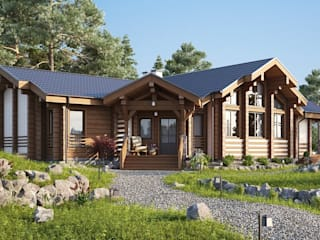 Rustic style house by GOOD WOOD Rustic