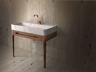 TCC Whitestone BathroomSinks Marble White