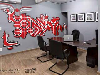 Escritório do estúdio fotográfico: Escritórios  por Designare Ambientes