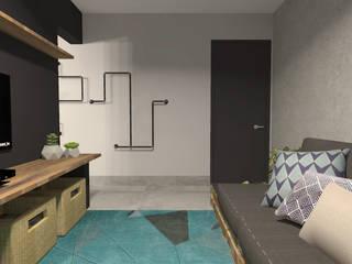 Industriale Wohnzimmer von Designare Ambientes Industrial
