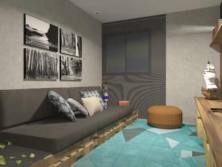 Sala de TV: Salas de estar  por Designare Ambientes