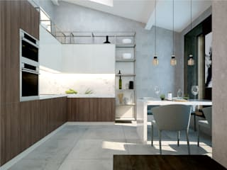 Studio 25 Industrial style kitchen Beige