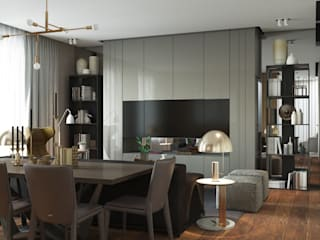 Studio 25 Scandinavian style living room Grey