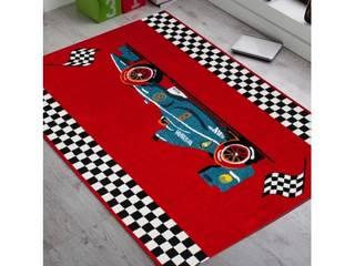 Tapis rouge cars pour chambre d'enfant:  de style  par Tapis-deco.fr