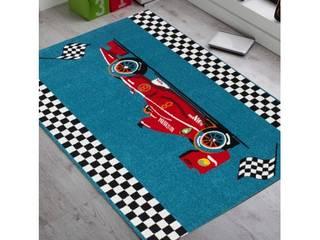 Tapis bleu cars pour chambre d'enfant:  de style  par Tapis-deco.fr