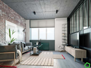 Polygon arch&des Living room Grey