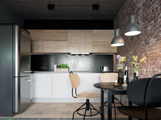 Polygon arch&des Minimalist kitchen Wood effect