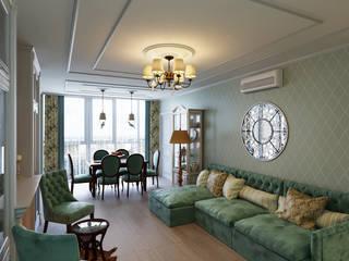 Дизайн интерьеров квартиры в Белгороде Гостиные в эклектичном стиле от Дом и Ко Эклектичный