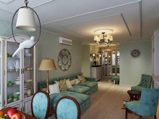Дизайн интерьеров квартиры в Белгороде: Гостиная в . Автор – Дом и Ко