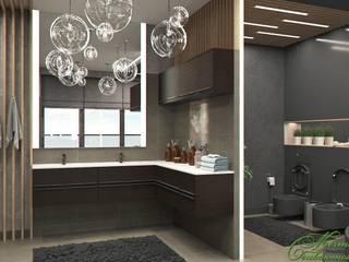 Salle de bain originale par Компания архитекторов Латышевых 'Мечты сбываются' Éclectique