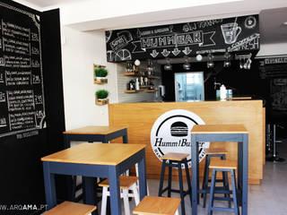 Industrial style gastronomy by ARQAMA - Arquitetura e Design Lda Industrial
