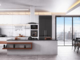 Cozinha Americana Cozinhas modernas por Arquilego - Projetos Online - Arquiteto Virtual Moderno