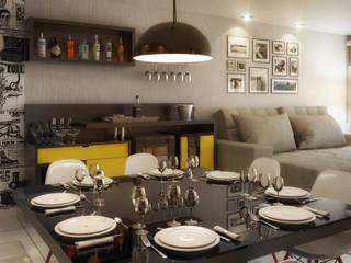 Sala de Estar e Jantar Salas de jantar modernas por Arquilego - Projetos Online - Arquiteto Virtual Moderno