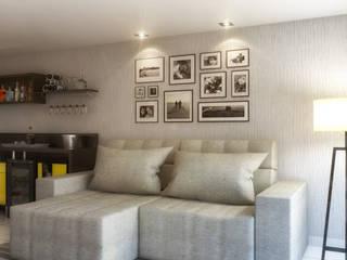 Sala de Estar e Jantar Salas de estar modernas por Arquilego - Projetos Online - Arquiteto Virtual Moderno
