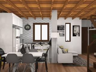Sala de Estar, Jantar e Cozinha Salas de jantar clássicas por Arquilego - Projetos Online - Arquiteto Virtual Clássico